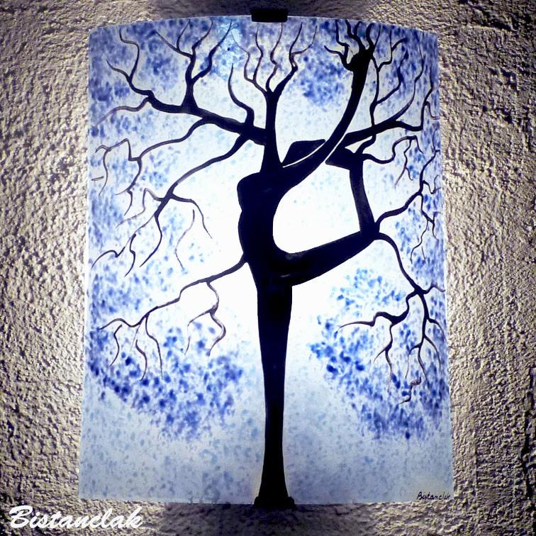 Applique motif arbre danseuse bleu clair