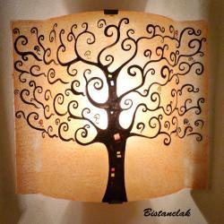 applique murale couleur sable motif arbre de vie