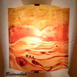 applique murale artisanale motif paysage du désert