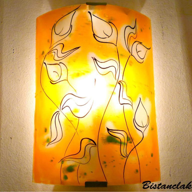 applique murale motif la danse des arums