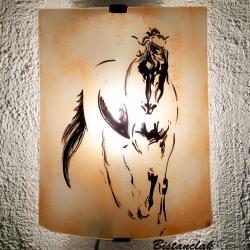 applique murale couleur sable motif le cheval de de vinci