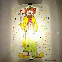 applique murale motif le clown amoureux