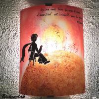 applique murale motif le coucher de soleil du petit prince