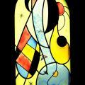vitrail multicolore inspiration Miro