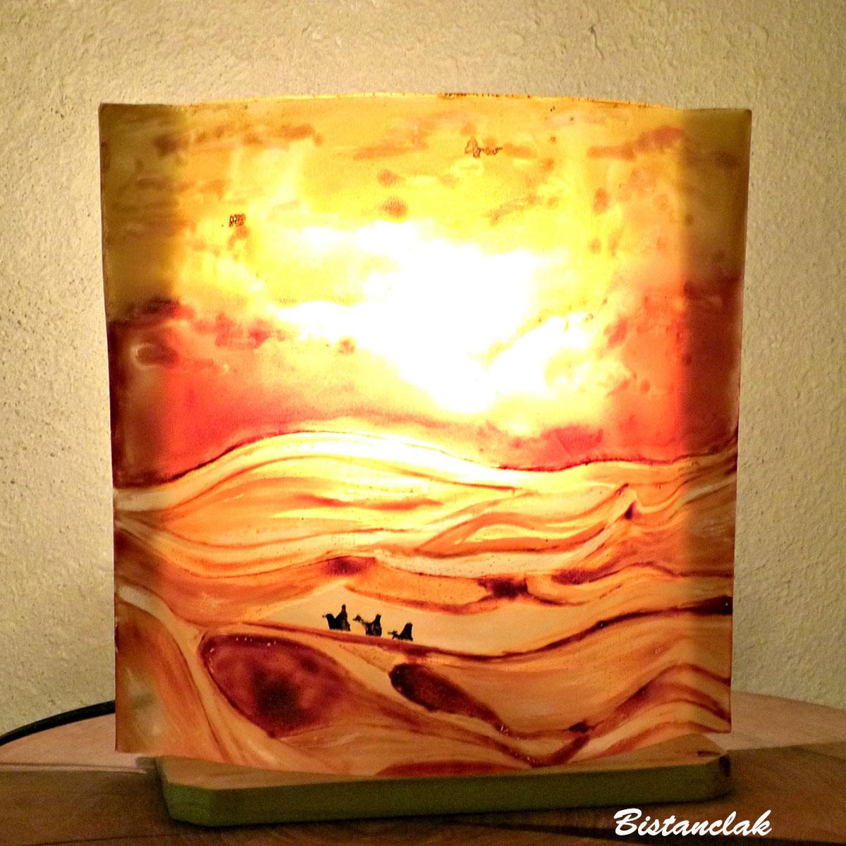 lampe à poser motif désert