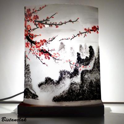 lampe motif fleurs de cerisier du japon
