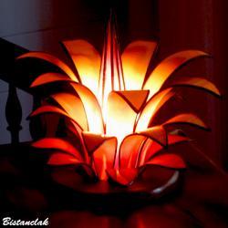 lampe fleur vitrail