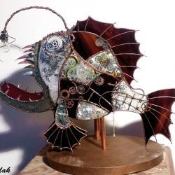 Poisson vitrail steampunk réalisé sur mesure