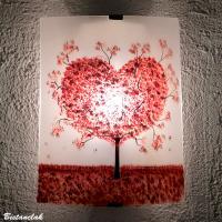 applique artisanale motif arbre en forme de coeur