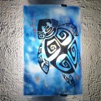 Am vr tortue ethnique bleu