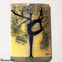 Applique artisanale couleur chaude motif arbre danseuse