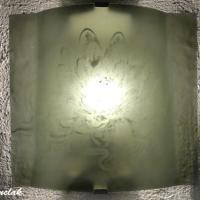 Applique artisanale decorative couleur gris acier motif lotus blanc 5
