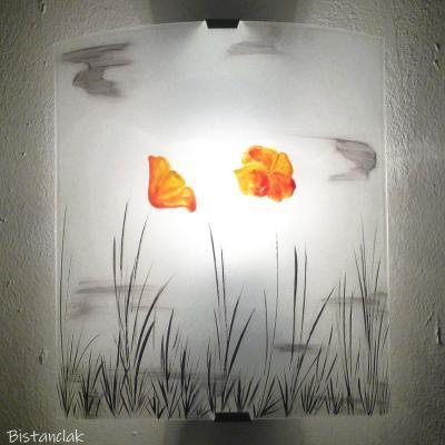 Applique motif fleur jaune orangé