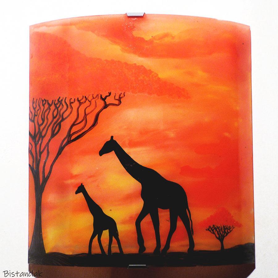 Applique artisanale motif girafe hauteur 30 cm