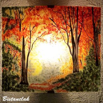 Applique colorée motif clairière d'automne