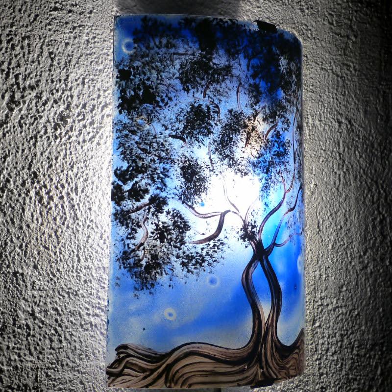 Applique d ambiance decorative bleu motif l arbre de jane 1