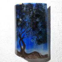 Applique d ambiance decorative bleu motif l arbre de jane 2