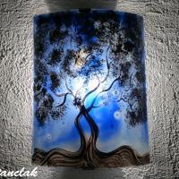 Applique d ambiance decorative bleu motif l arbre de jane 3