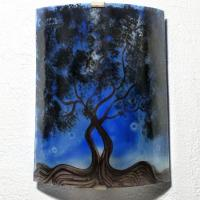 Applique d ambiance decorative bleu motif l arbre de jane 5