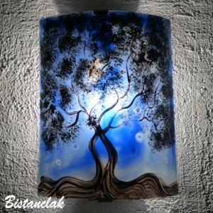 Applique d ambiance decorative bleu motif l arbre de jane 6