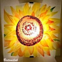 Applique motif fleur de tournesol