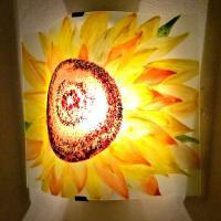 Applique d ambiance decorative motif fleur de tournesol 6