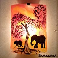 Applique éléphant jaune orange et rouge
