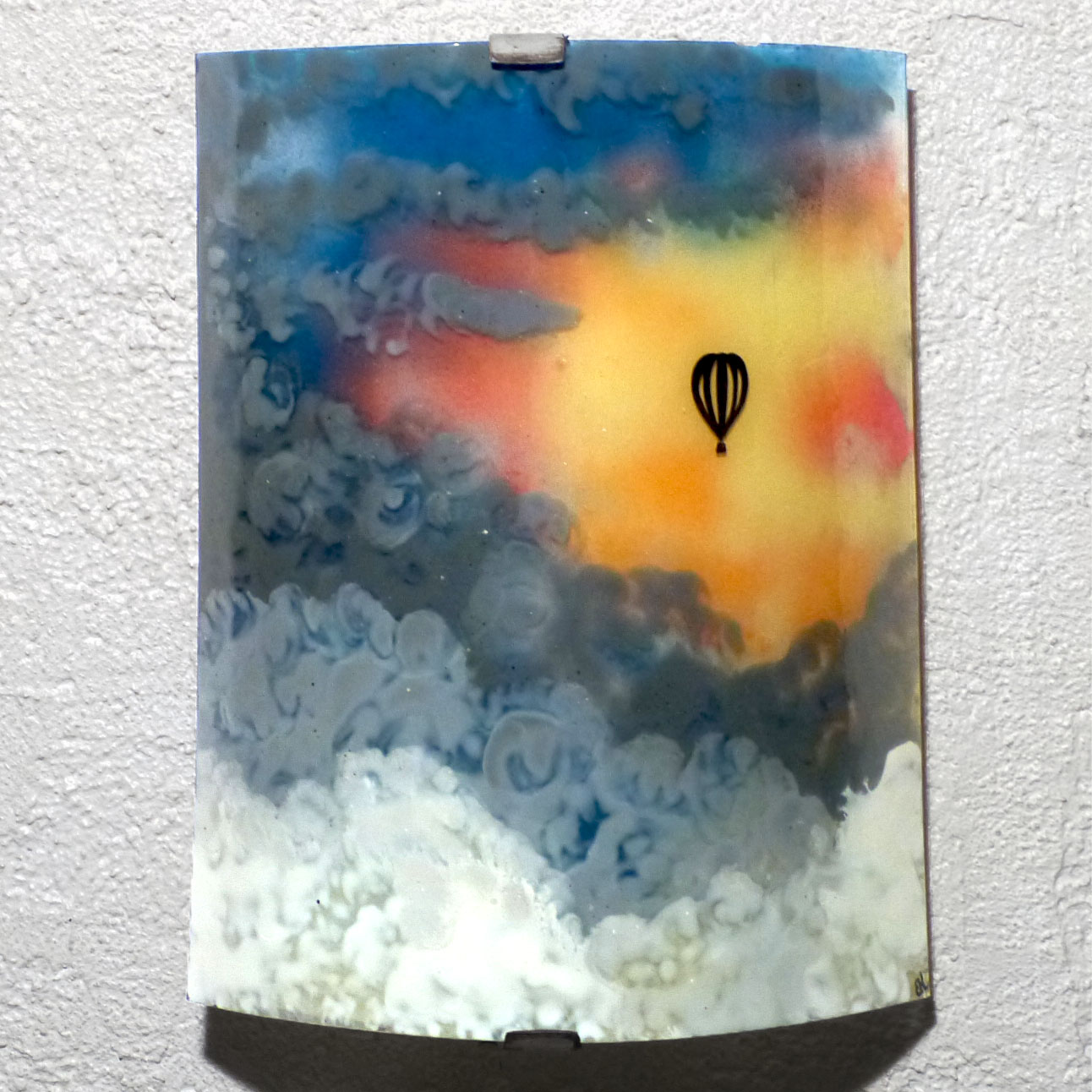 Applique paysage motif montgolfiere dans un ciel multicolore fabrication artisanale francaise par bistanclak 7