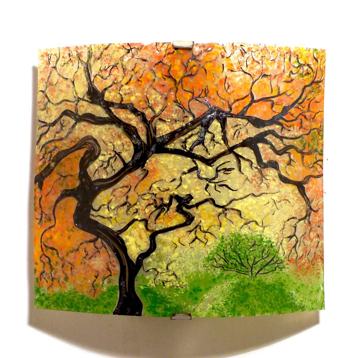 vente en ligne applique luminaire motif sous-bois d'automne