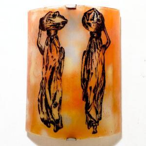 Applique orange motif les femmes nomades