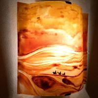Applique d ambiance motif paysage du desert 3