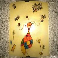 Applique d ambiance multicolore au motif fantaisie de globulle et les gronoeil