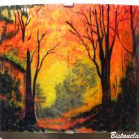 Luminaire mural coloré au motif d'une clairière aux couleurs d'automne vendu en ligne