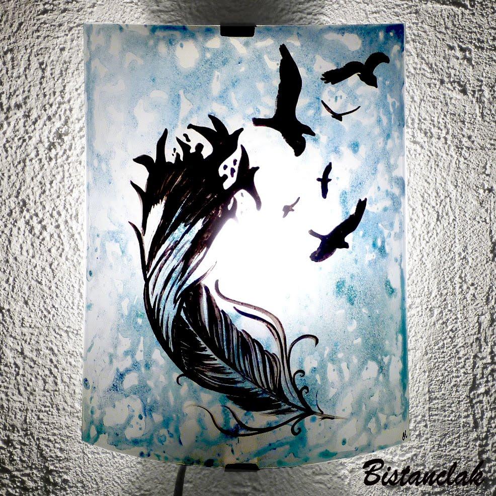 Plume À Bleu De Motif Applique L'oiseau La tsrChQd