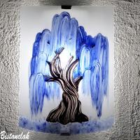 Applique decorative eclairante motif saule pleureur bleu fabrication artisanale francaise 6