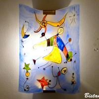 Applique bleu et multicolore motif le ciel de miro vendue en ligne