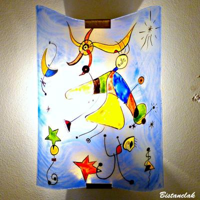 Applique fantaisie bleu et multicolore motif le ciel de Miro