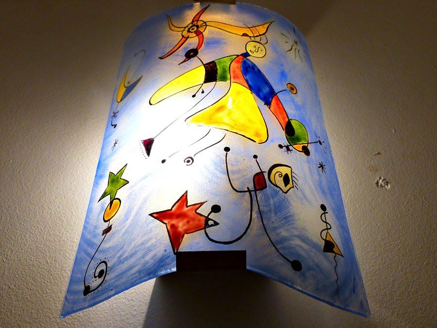 Applique decorative fantaisie bleu et multicolore motif le ciel de miro 5