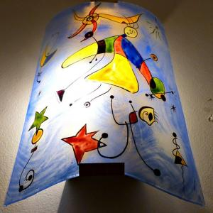 Applique decorative fantaisie bleu et multicolore motif le ciel de miro 5