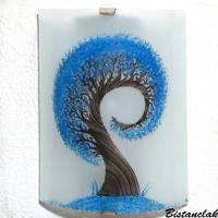 Applique demi cylindre eclairante et decorative motif l arbre spiralement bleu cyan 6