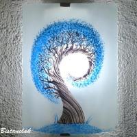 Applique demi cylindre eclairante et decorative motif l arbre spiralement bleu cyan 7
