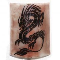 Applique décorative de couleur brun motif dragon