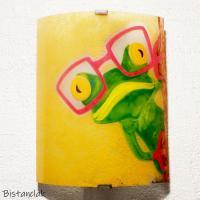 Applique en verre motif grenouille