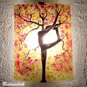 Applique motif arbre danseuse jaune et rouge