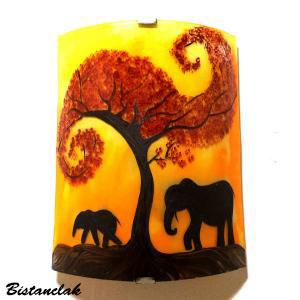 Applique jaune orange motif elephant