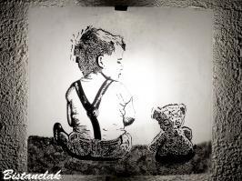 Applique motif enfant et ourson