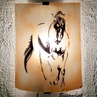 Applique motif cheval en esquisse