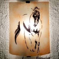 Applique couleur sable motif esquisse de cheval