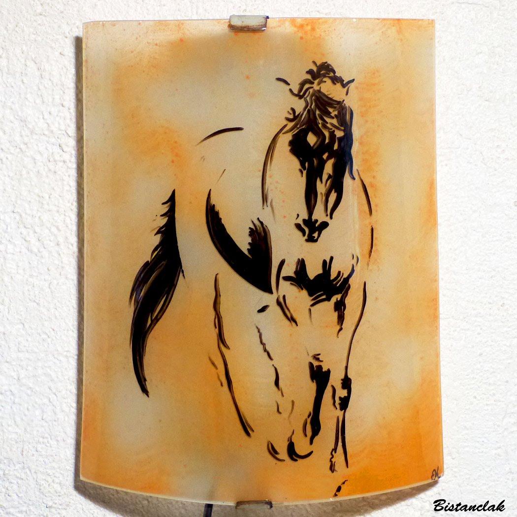 Applique artisanale motif esquisse de cheval