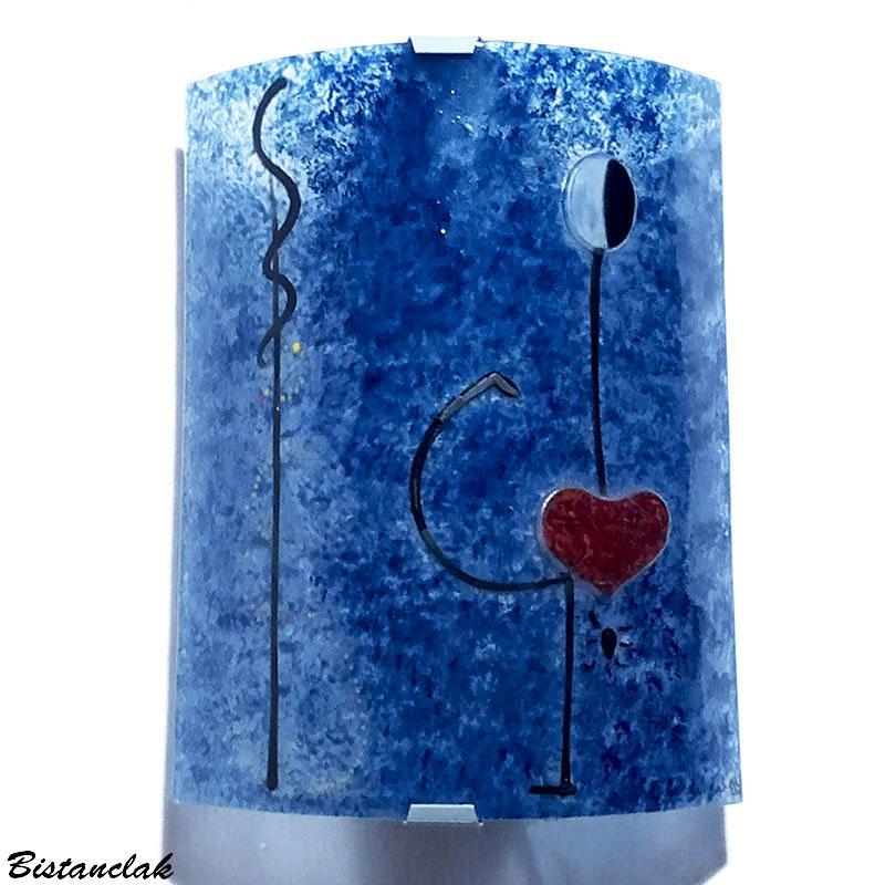 Applique luminaire bleu la danseuse de miro 1